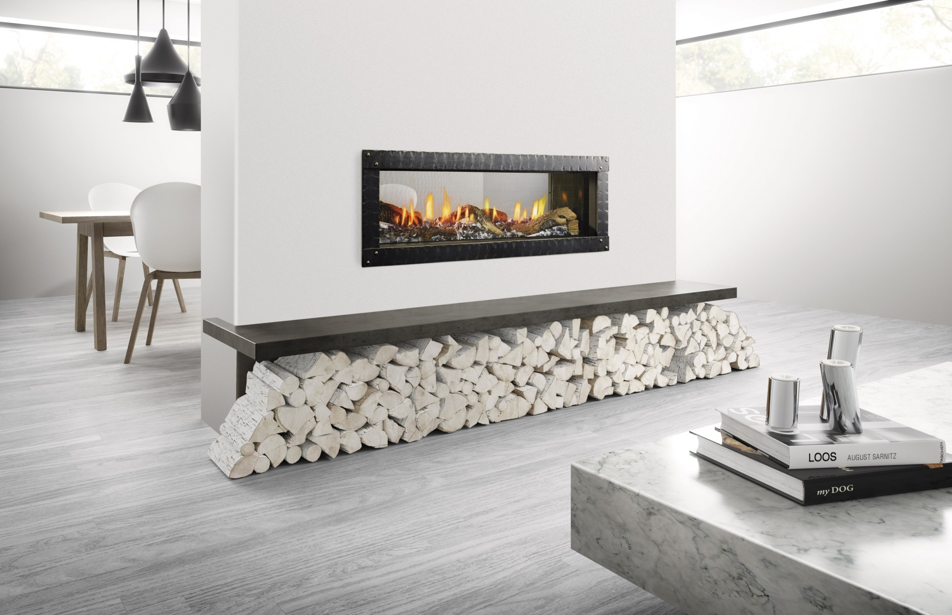 MEZZO 48 See-Through - Photo (Loft Forge Front, Iced Fog Media, Natural Log Set, 4C, High Res)