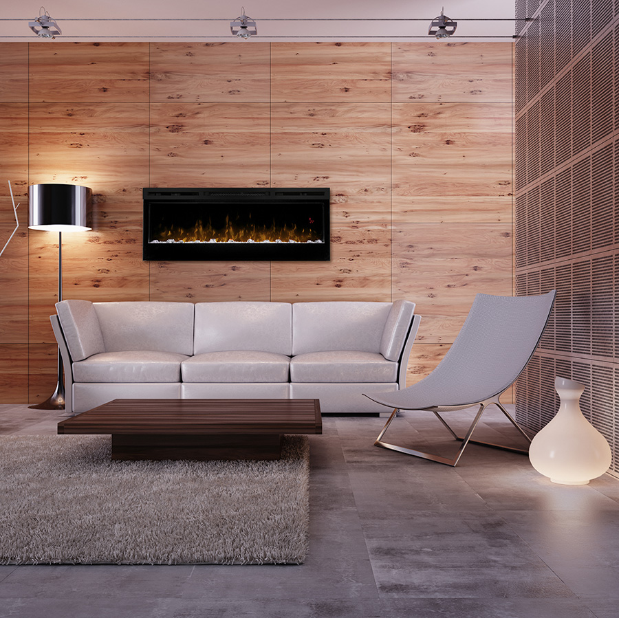 Living Room interior at night 3d render